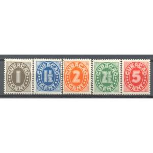 Curaçao 153 NVPH 153/157 postfris (scan SM)