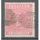 GB 1867 Michel 35 PL. 1 / SG 126 PL. 1 gestempeld