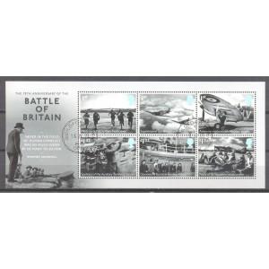 GB 2015 009 Battle of Britain 75th Anniversary - blok