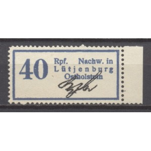 Lütjenburg Mi 1 Gebührenzettel