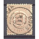 Nederland NVPH 13D gestempeld francotakje Goes