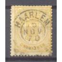 Nederland NVPH 17B gestempeld francotakje Haarlem