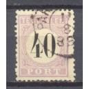 Suriname NVPH Port 7 Type II gebruikt (scan A)