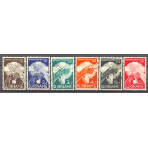 Suriname NVPH 151-156 gebruikt (scan A)