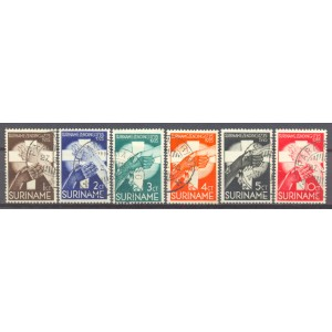 Suriname NVPH 151-156 gebruikt (scan B)