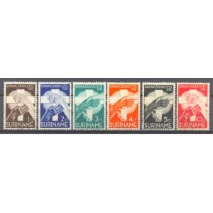 Suriname NVPH 151-156 gebruikt (scan D)