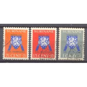 Suriname NVPH 197-199 gebruikt (scan B)