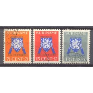 Suriname NVPH 197-199 gebruikt (scan A)