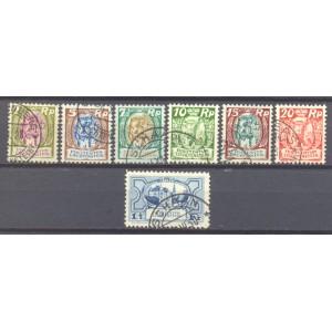Liechtenstein Michel 065/071 gebruikt