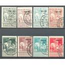 België OBP 0100/0107 gestempeld (scan B)