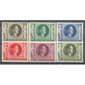 Duitse Rijk Michel 844/849 postfris (scan B)